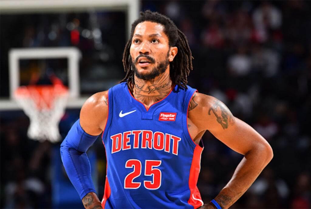 Derrick Rose In Detroit Pistons