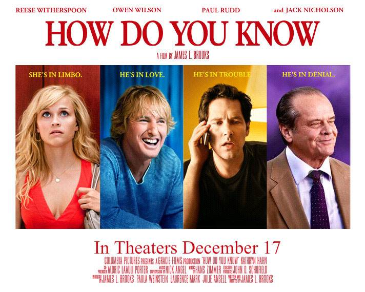 Reese Witherspoon, Owen Wilson, Paul Rudd, Jack Nicholson, How Do You Know